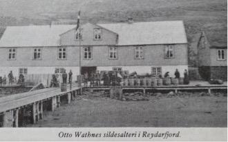 Otto Wathnes sildesalteri i Reydarfjördur på Øst-Island